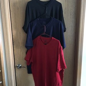 Men's T-Shirts (2 NWOT-Blue & Black & 1-Red)